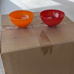 Mid century hand blown glass bowls x2 🔥
